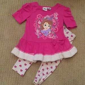 Sofia the First top and leggings